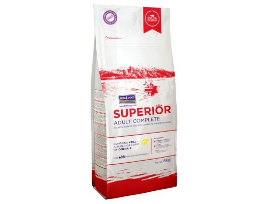 Fish4Dogs - Superior Adult Complete - Losos - Mini - 6kg